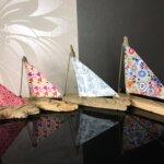 Décorations de voiliers par Gwen-Art en bois flotté sur Groix
