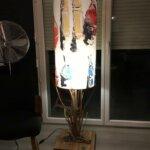 Lampe déco par Gwen-Art en bois flotté sur Groix