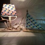 Luminaire par Gwen-Art en bois flotté sur Groix