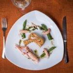 Entrée de crevettes au restaurant le Cinquante à Groix