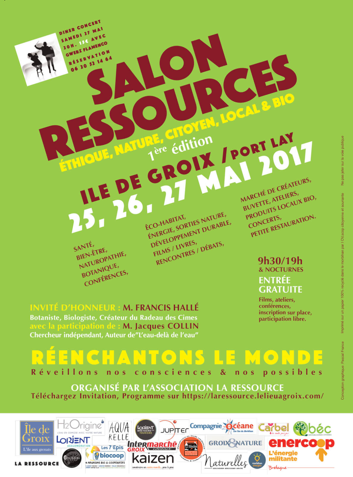 Affiche Salon Ressources 2017 à Groix
