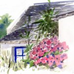 Maison à fleurs peint par les Aquarelles de Groix