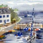 Port Lay peint par les Aquarelles de Groix