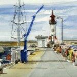 Port Tudy peint par les Aquarelles de Groix