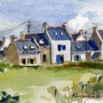 Village de Groix peint par les Aquarelles de Groix