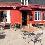 Devanture du restaurant de produits de la mer le Pub de la Jetée à Groix