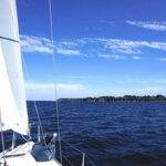 Navigation avec le voilier Beneteau First 31.7 à louer sur Groix