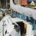 Pont du voilier Beneteau First 31.7 à louer sur Groix