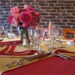 Salle du restaurant La Malicette dans le village de Locqueltas à Groix