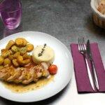 Plat 1 du restaurant les Alizés de l'île de Groix