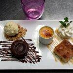 Dessert gourmand du restaurant les Alizés de l'île de Groix