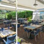 Terrasse couverture du Restaurant O Thon Bleu de l'île de Groix